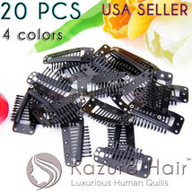20 PCS Large Silicone 10-teeth Wig Snap Hair Clips Metal - US SELLER QUI... - €7,98 EUR