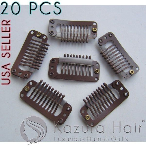 Brown 9 Teeth Large Snap Hair Clips Wigs And 50 Similar Items