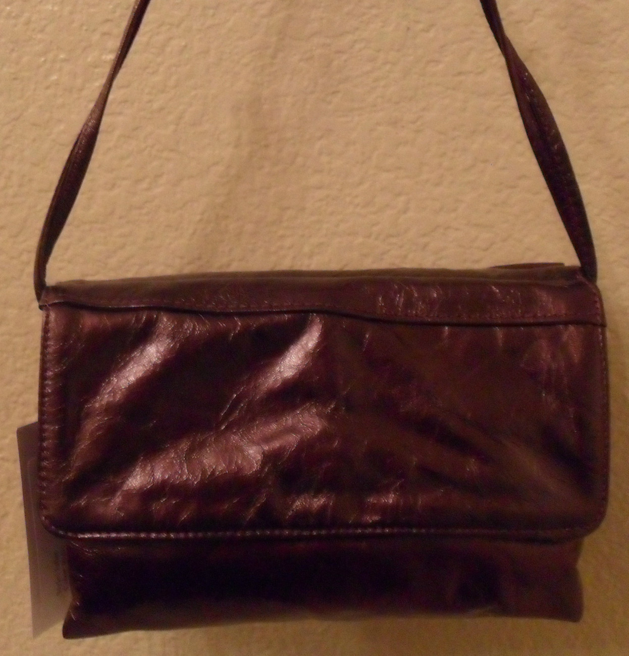 NWT SUSAN FARBER Ruby Leather Juliet Ruffle Shoulder Bag NEW (MAKE AN OFFER)