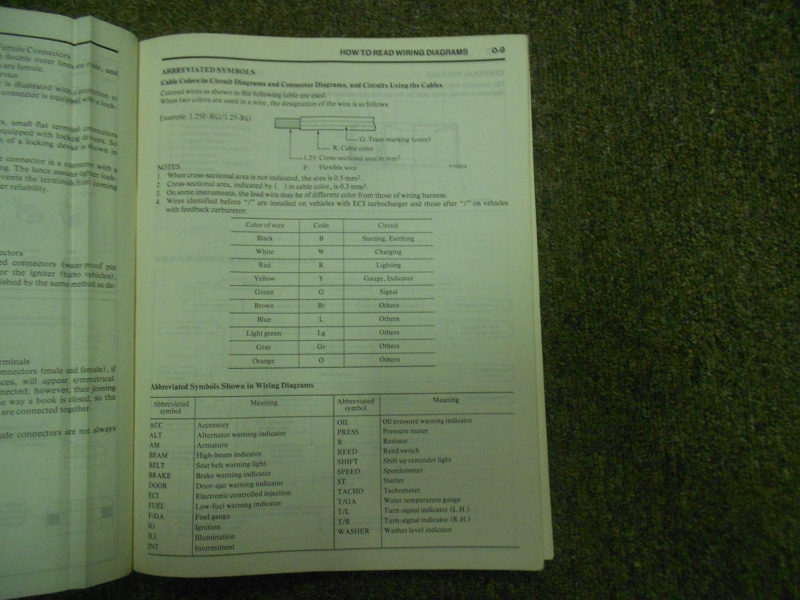 1986 Mitsubishi Mirage Electrical Wiring And 18 Similar Items Diagram Service Repair Shop Manual Factory Oem
