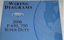 2006 Ford F-650 750 Truck WIRING Diagrams Service Shop Repair Manual EWD... - $44.54