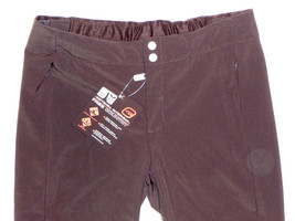 Free Country Pants Womens Ski Hike Softshell Womens Water Resistant Brown L - $84.23