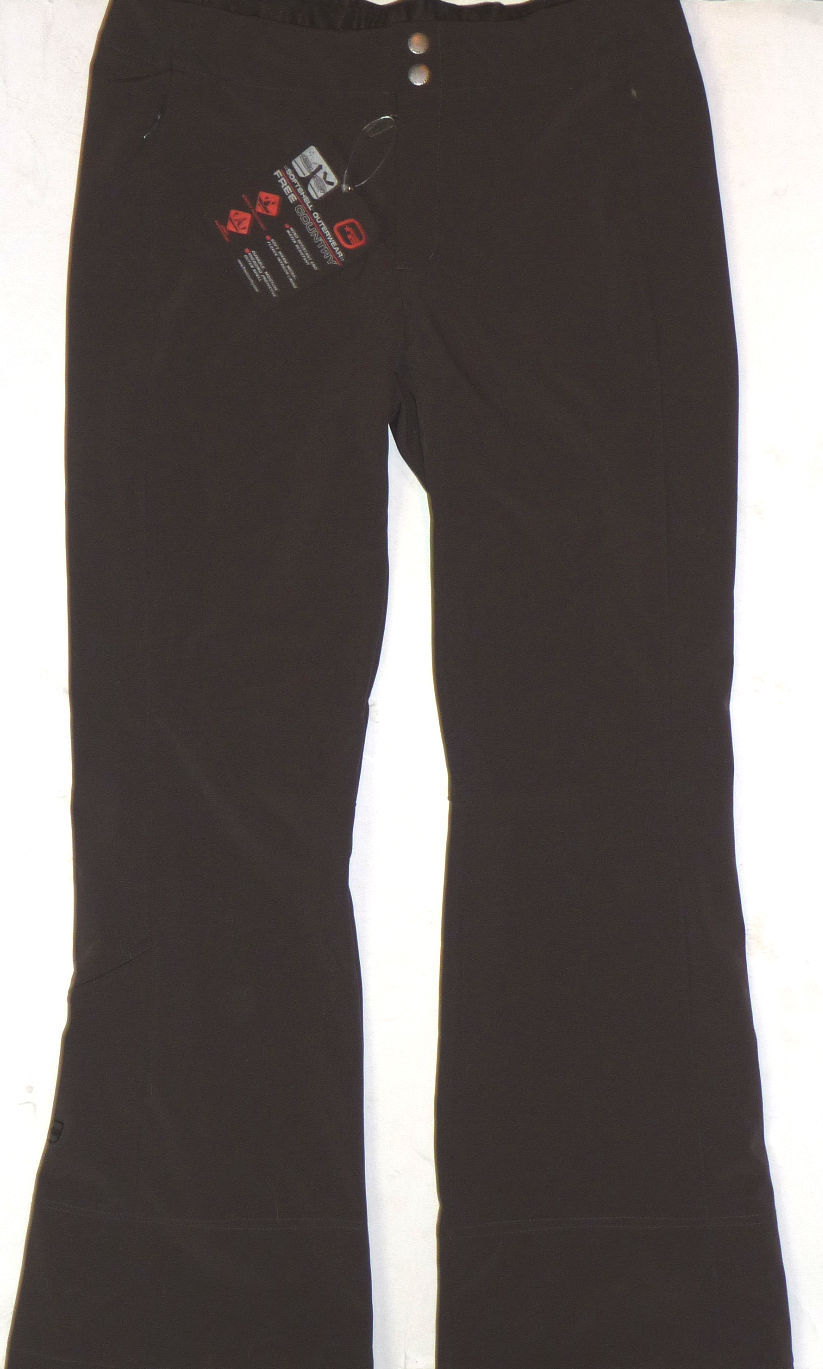 Free Country Pants Womens Ski Hike Softshell Womens Water Resistant Brown L image 3