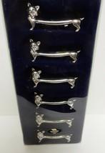 Danish Vintage Silver Plate Cat Kitten Knife Rest MASTERGULL BOHM Set of... - $79.15