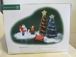 Dept. 56 Christmas Village Accessory Set - Snowy Landscape Set of 5 pieces - $32.99
