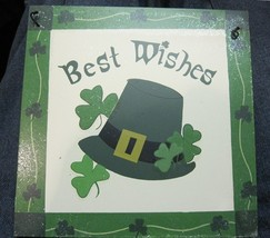 Irish Plaque Best Wishes - $6.04