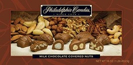 Philadelphia Candies Milk Chocolate Covered Assorted Nuts, 1 lb. Gift Box - $23.71