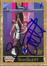 Sean Elliott autographed Basketball Card (San Antonio Spurs) 1990 Skybox... - $15.00