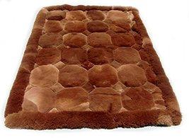 Alpakaandmore Original Peruvian Alpaca Fur Rug Rhombus Designs Natural Brown ... - $529.65