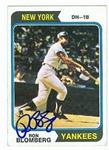 Primary image for Ron Blomberg autographed Baseball Card (New York Yankees) 1974 Topps #117