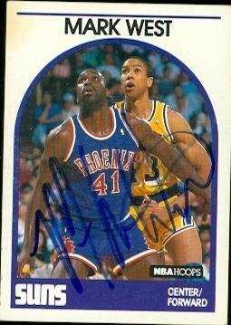 Primary image for Mark West autographed Basketball card (Phoenix Suns) 1989 Hoops #228