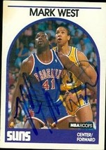 Mark West autographed Basketball card (Phoenix Suns) 1989 Hoops #228 - $13.00