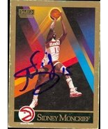 Sidney Moncrief autographed Basketball Card (Atlanta Hawks) 1990 Skybox ... - $15.00