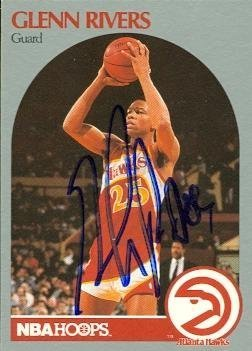 Primary image for Glenn Rivers autographed Basketball Card (Atlanta Hawks) 1990 Hoops #32