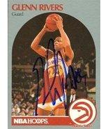 Glenn Rivers autographed Basketball Card (Atlanta Hawks) 1990 Hoops #32 - $14.00