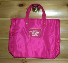 Victoria's Secret Love Hot Pink Waterproof Lined Travel Tote Bag - $10.95