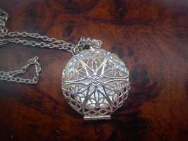 Amor's Love Homemade Solid Perfume in Round Victorian Locket Pendant  - $44.44