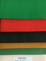 Zweigart's Aida 16 Count Fat Quarter 18 x 21 Cross Stitch 7 Colors - $8.50