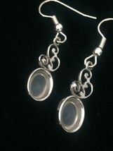 Vintage 50s Van Dell Opalite/Rhinestone Oval Brooch/pendant and Earrings Set image 6