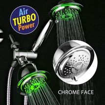 3-Way Chrome LED Shower Head/Hand Shower Combo with Air Turbo Nozzle Technology - $49.99
