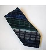 Ungaro Paris Neck Tie Blue Green Gray 100% Italian Silk Mens Geometric S... - $29.00