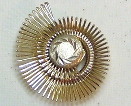 Vintage Gold Tone Hairpin Swirl Scarf Clip - $13.99
