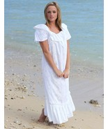 Regular & Plus SZ Traditional White Hawaiian Print Muumuu Wedding  Dress... - $110.66 CAD+