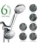 Ultra-Luxury 30-Setting 3-Way Shower Head / Handheld Combo with SpiralFl... - $28.99