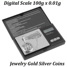 Digital Scale 100g x 0.01g Jewelry Gold Silver Coin Gram Pocket Size USPS - €12,28 EUR