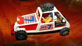 1999 Mattel Red Huffman Motor Sport Man N Car-Whizz Wheels #7-Mission Helicopter - $4.50