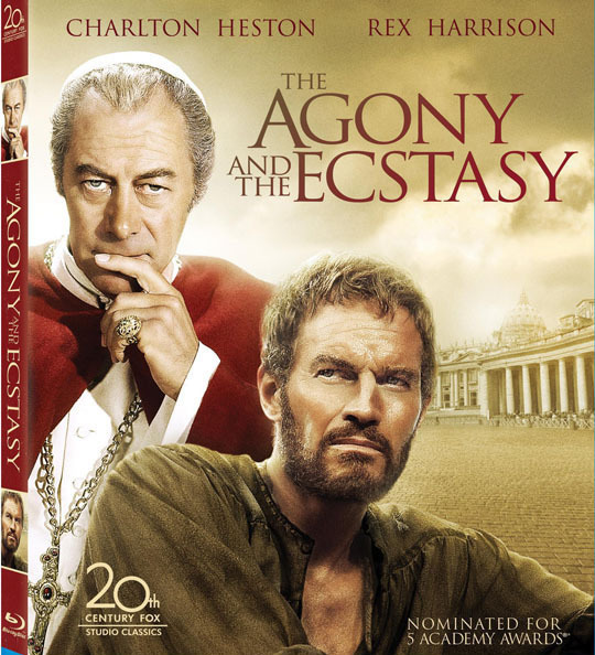 The agony and the ecstasy   dvd with charlton heston and rex harrison