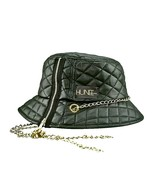 EYE HUNEE: BLACK QUILTED FAUX LEATHER  - $69.99