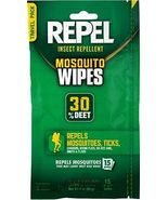 Repel Mosquito Wipes  30% Deet  15 wipes - $10.99
