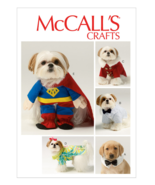 """McCall's M6862 Pet Dog Clothes & Costume Pattern S-XL Back Length 6½""""-16"""" - $12.99"""