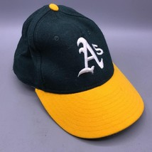 Vintage New Era Oakland A's Fitted Baseball Hat Cap 1990's Pro Model 6-5/8 - $44.54