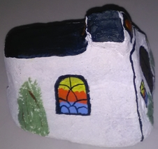 Country Church painted on a rock