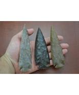 "3 Pcs Assort AGATE Stone Spearhead ARROWHEAD Point 4 1/2"" - 5"" #T-1399 - $15.00"