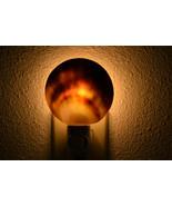 black LIP mother of pearl Sea Shell NIGHTLIGHT Bathroom Kitchen 7390a - $8.00