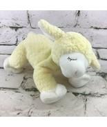 Baby Gund Winky Yellow Lamb Rattle Soft Plush Stuffed Animal Lovey Crib Toy - $14.84