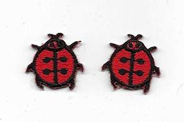 Spk Art 2 Ladybug Beetle Embroidered Iron On Applique Patch, Sew on Patc... - $3.15