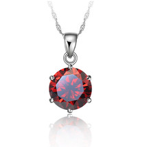 Factory Price 925 Sterling Silver Necklace Women 2020 Holiday Gift Wedding Jewel - $9.45