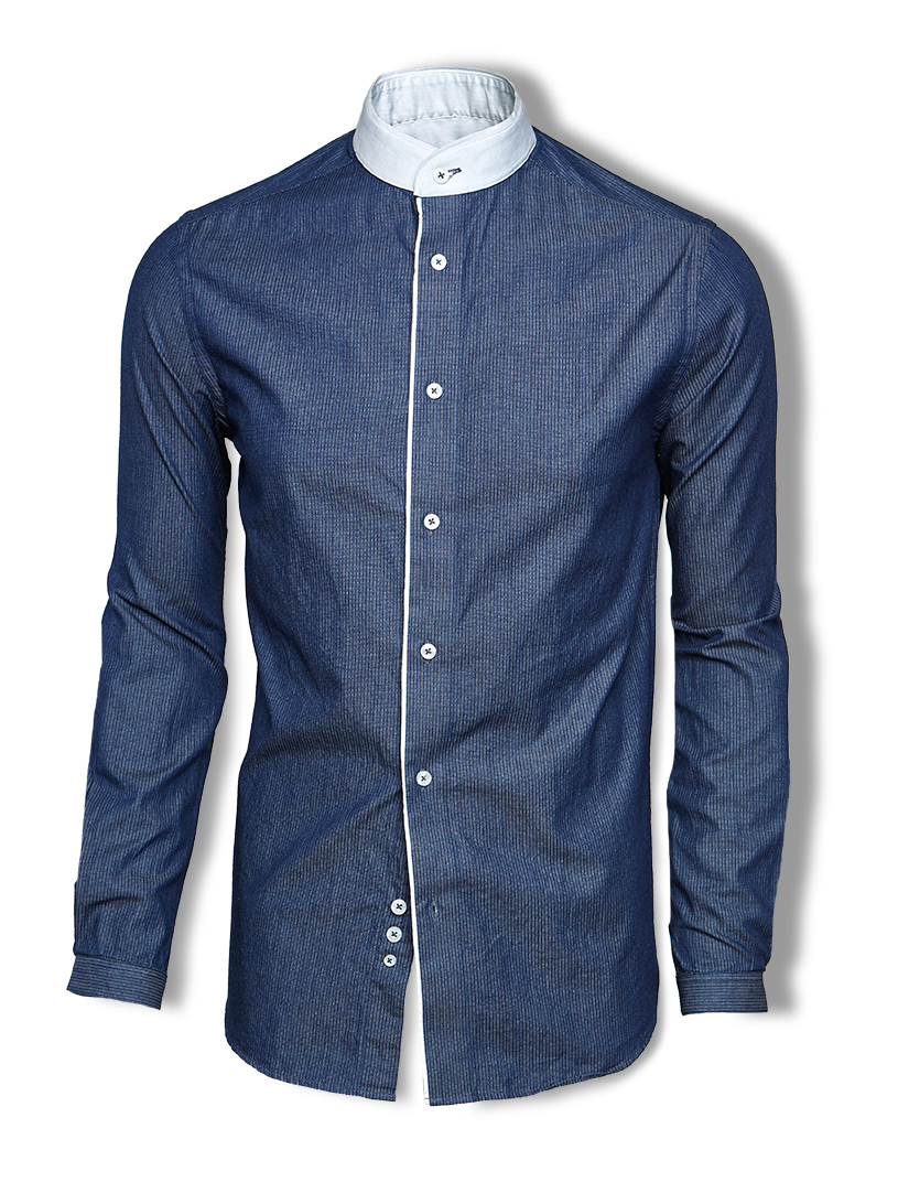 Skyrta KALDI Pin stripe denim shirt