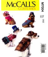 McCall's M7004 Pet Dog Coat Jacket Skirt Hat Steampunk Costume Pattern S... - $14.99
