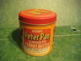 Vintage Derby Peter Pan Smooth Peanut Butter Ti... - $15.69