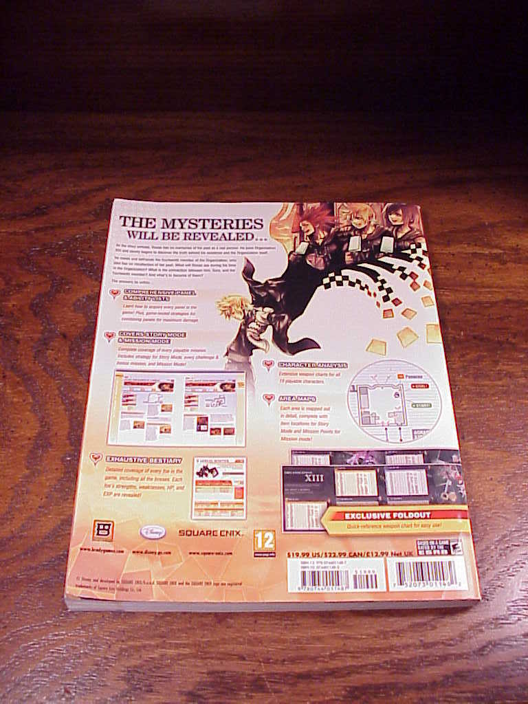 Kingdom Hearts 385/2 Days Strategy Guide Book, for the Nintendo DS