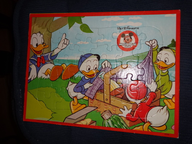 Jaymar FRAME TRAY PUZZLES Mickey Mouse & Donald Duck