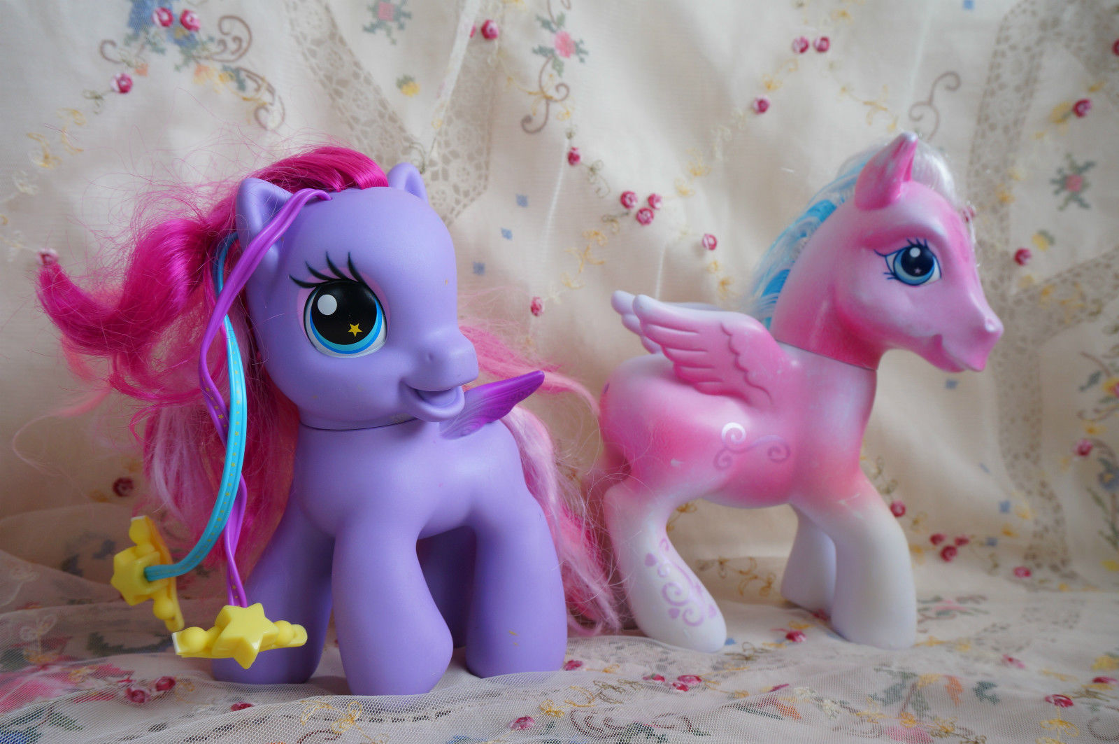 lot two large my little pony mlp horse figures Star catcher & star song G3 toys