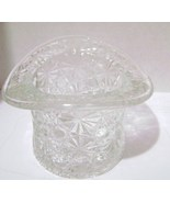 Fenton Clear Daisy & Buttons Top Hat Planter - $12.00