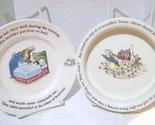 Wedgwood Etruria & Barlaston Peter Rabbit Child's Cereal Bowl &  Plate