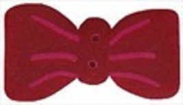 Simon's Bow Tie 4658 handmade clay button JABC Just Another Button Company - $1.80